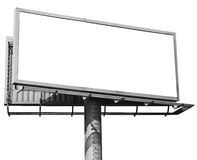Empty billboard isolated. On white stock photos