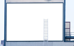Empty billboard with ladder Royalty Free Stock Photos