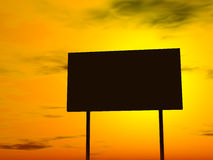 Empty billboard, late evening sky in the background Royalty Free Stock Photos