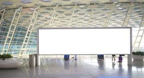 Empty billboard. In modern building inside Stock Photos
