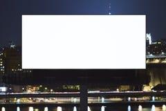 Empty billboard in night city Stock Photo