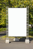 Empty billboard in park Royalty Free Stock Images