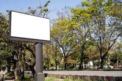 Empty billboard on road side Royalty Free Stock Photo