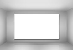 Empty billboard in a room. With lights Stock Photos
