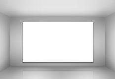 Empty billboard in a room Stock Photos