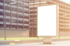 Empty billboard, side, toned Royalty Free Stock Images