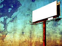 Empty billboard - signpost panel against grunge Royalty Free Stock Photos