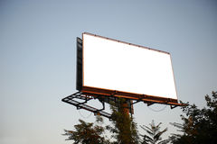 Empty billboard in the sity for your ad Royalty Free Stock Image