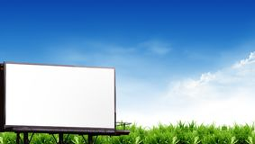 Empty Billboard with the sky Royalty Free Stock Photography
