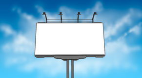 Empty billboard on sky Stock Photography