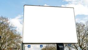 Empty billboard street. Blue sky Royalty Free Stock Images