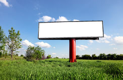 Empty billboard for your ad Royalty Free Stock Photography