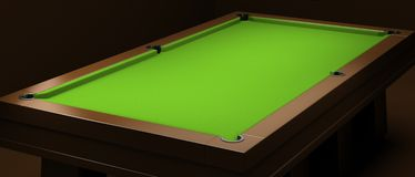 Empty billiard table Royalty Free Stock Images