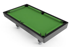 Empty Billiard table. On a white background Stock Photo