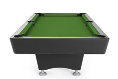 Empty Billiard table. On a white background Stock Photos