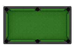 Empty Billiard table. On a white background Stock Photography