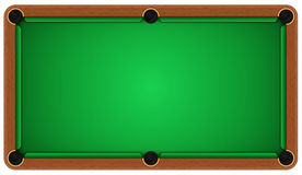 Empty billiard table on a white background Royalty Free Stock Photos