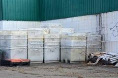 Empty bins Stock Images