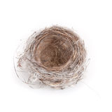 Empty Bird's Nest on White - from above Stock Photos