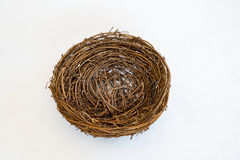 Empty Birds Nest. Symbolizing Empty Nester Concept Stock Photo
