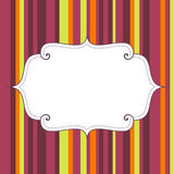 Empty birthday poster on seamless stripes pattern background Stock Image
