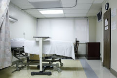 Empty birthing room. At the hospital royalty free stock photography