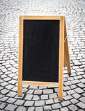 Empty black board Stock Image