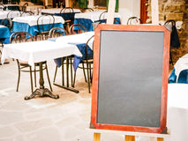 Empty black board Stock Photo