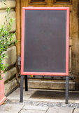 Empty black board Stock Photography