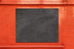 Empty black board  cafe menu board Royalty Free Stock Photos