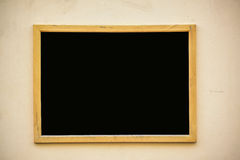Empty black board (menu board) at a restaurant - nice backgroud Stock Images