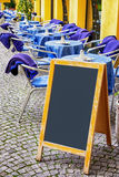 Empty black board Royalty Free Stock Photography