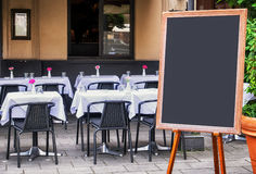 Empty black board Royalty Free Stock Images