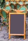 Empty black board Stock Photography