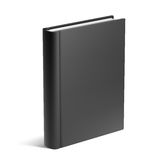 Empty Black Book Template Royalty Free Stock Photo