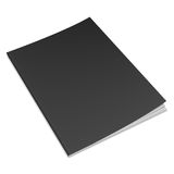 Empty Black Book Template Stock Photos