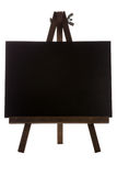 Empty black canvas Stock Photo