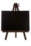 Empty black canvas Stock Photo
