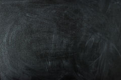 Empty black chalk board surface Royalty Free Stock Photos