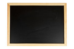 Empty black chalkboard Royalty Free Stock Image