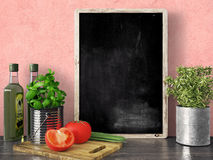 Empty black chalkboard, 3D render Stock Photography