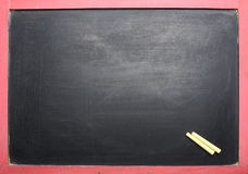 Empty Black Chalkboard Stock Photography