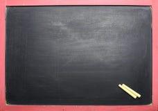 Empty Black Chalkboard stock photography