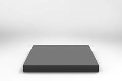 Empty black cube background Royalty Free Stock Image