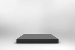 Empty black cube background Stock Images