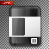 Empty black food tray. Isolated on transparent background. Vector illustration, EPS 10 royalty free illustration