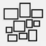 Empty black frameworks Royalty Free Stock Images