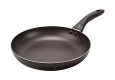 Empty Black Frying Pan (clipping path) Royalty Free Stock Images