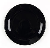 Empty black plate Stock Photos