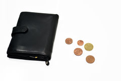 Empty black pocket with no money. Stock Photography